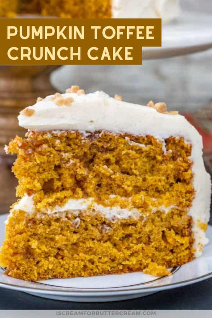 Pumpkin toffee crunch cake pin graphic 2