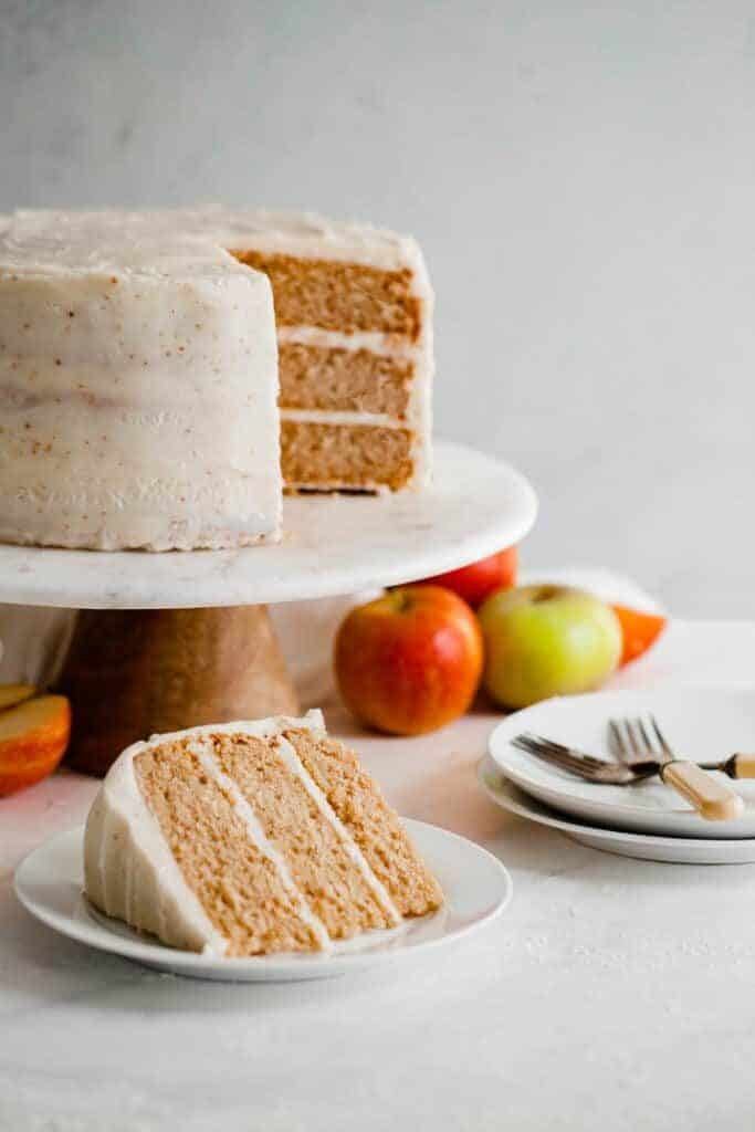 Spiced Cider Apple Cake Recipe with Brown Butter Frosting