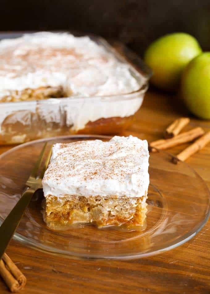 Caramel Apple Poke Cake (Potluck Cake)