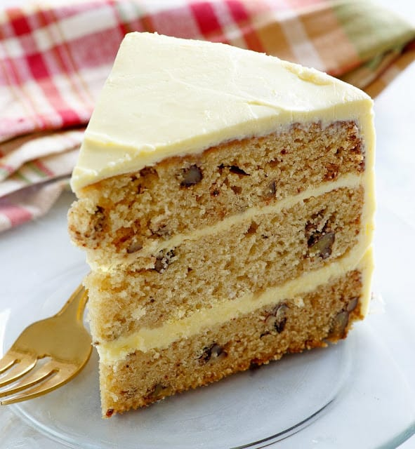 Maple Syrup and Pecan Layer Cake