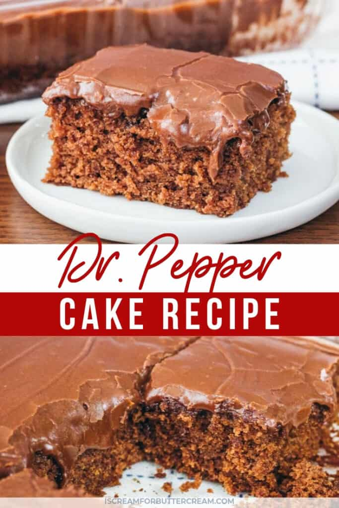 dr pepper cake recipe pin graphic 1