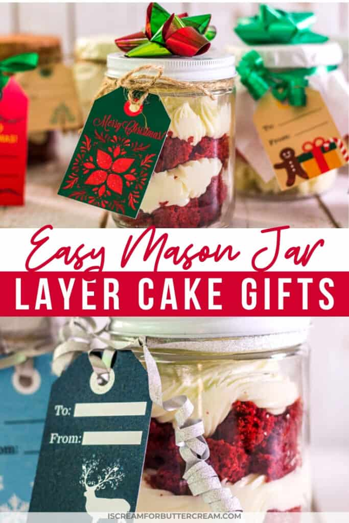Easy Mason Jar Layer cake gifts pinterest graphic 1