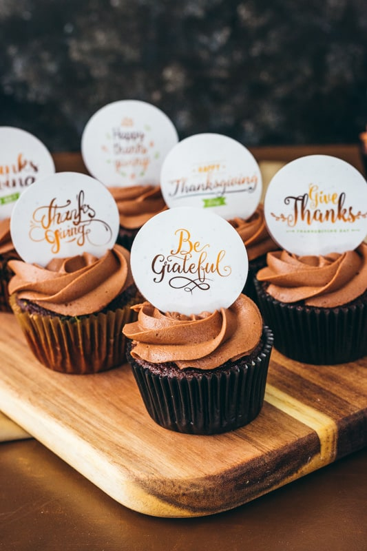be grateful thanksgiving cupcake topper