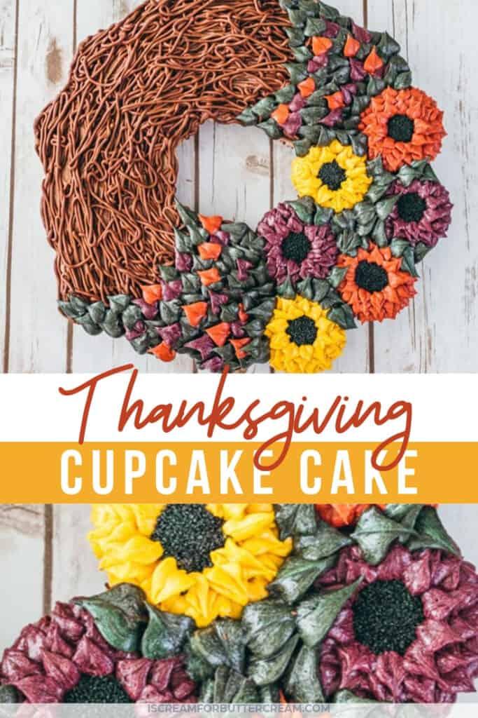 Thanksgiving cupcake cake pin graphic 1