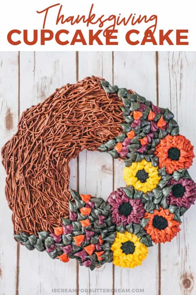 thanksgiving cupcake cake pinterest graphic 2