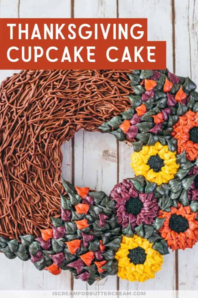 thanksgiving cupcake cake pinterest graphic 3