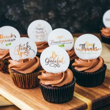give thanks cupcake toppers featured image