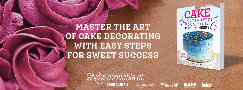 cake decorating for beginners book graphic