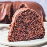 Chocolate Spice Cake close up for recipe card