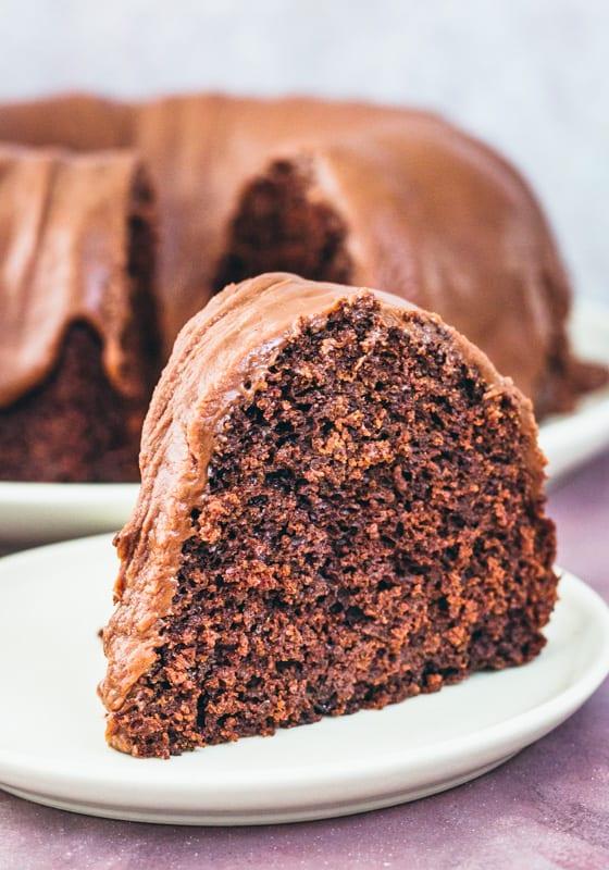 close up of chocolate spice cake