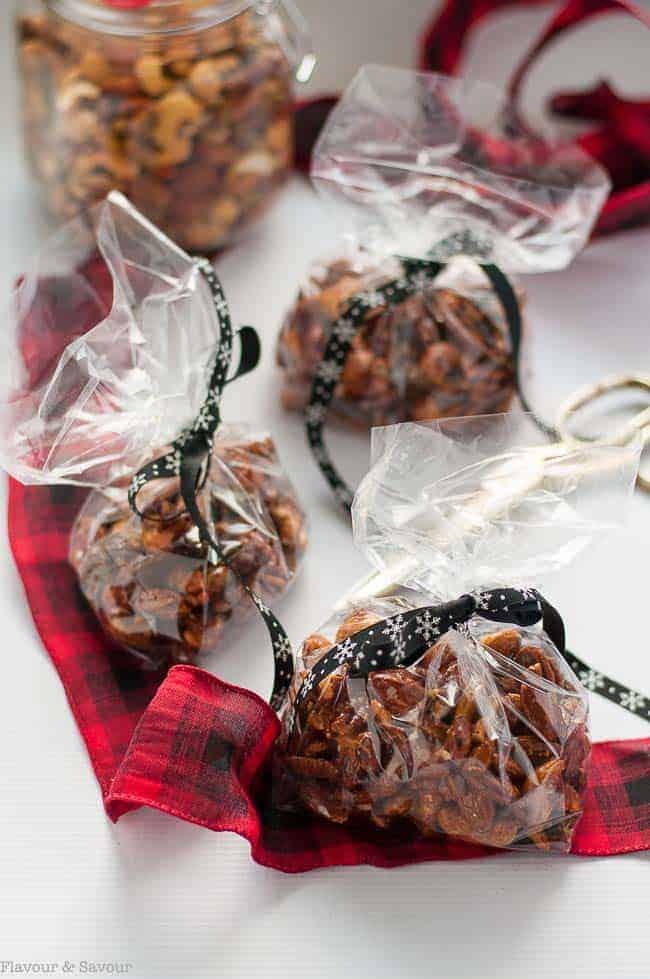 espresso glazed holiday nuts