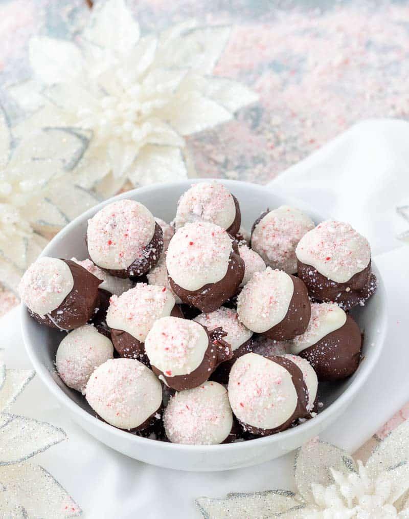 peppermint bark cake balls