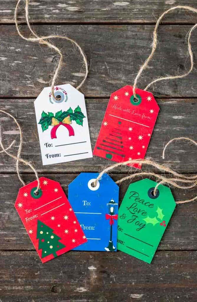 printable christmas food gift tags