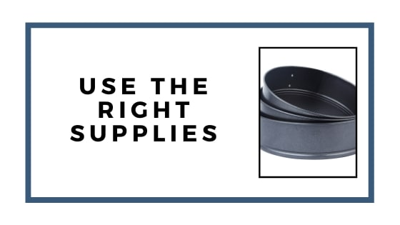 use the right supplies graphic