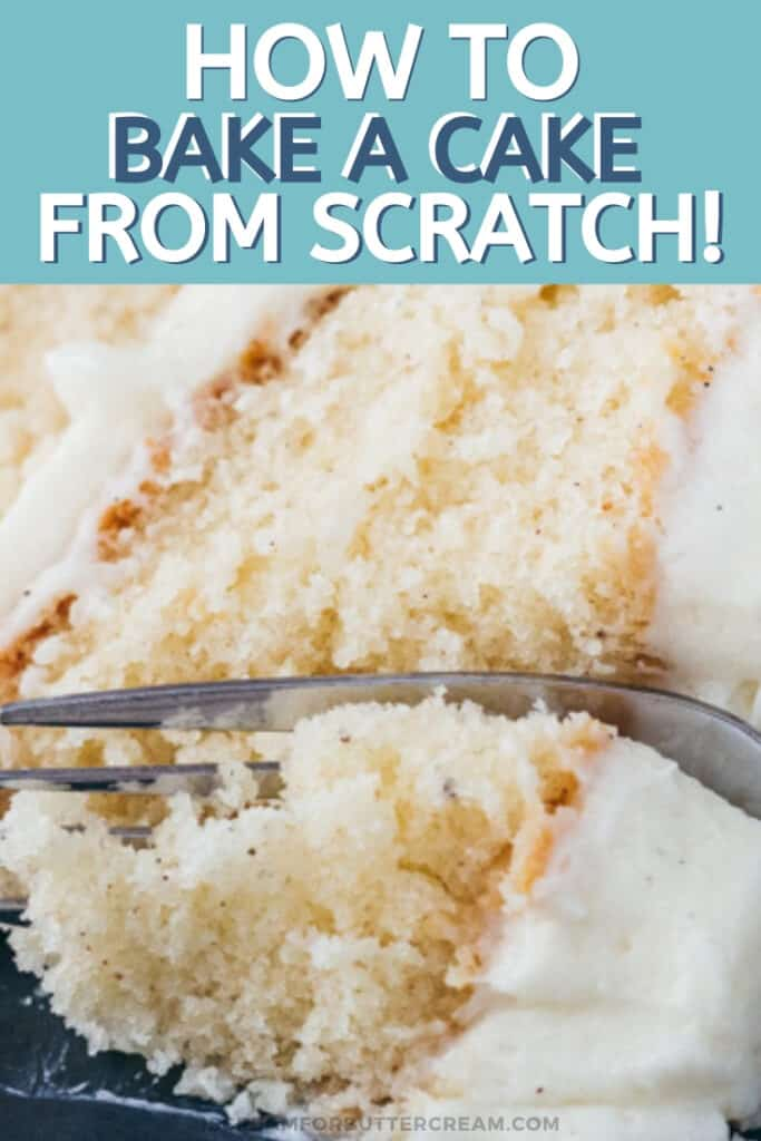 how to bake a cake from scratch pin graphic 3