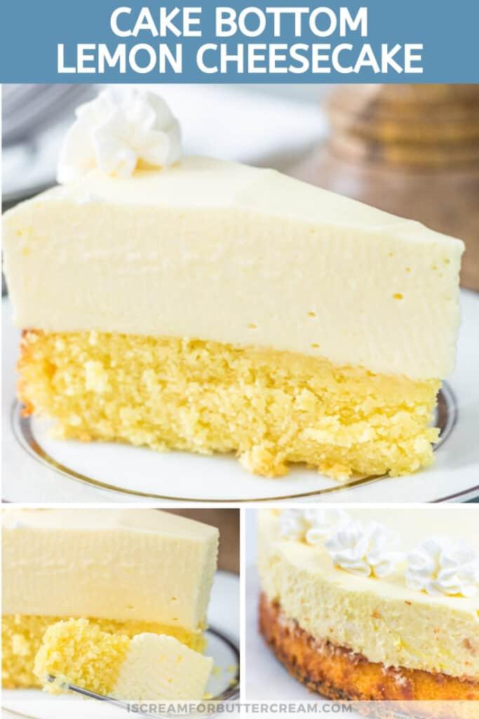 Cake Bottom Lemon Cheesecake pin graphic