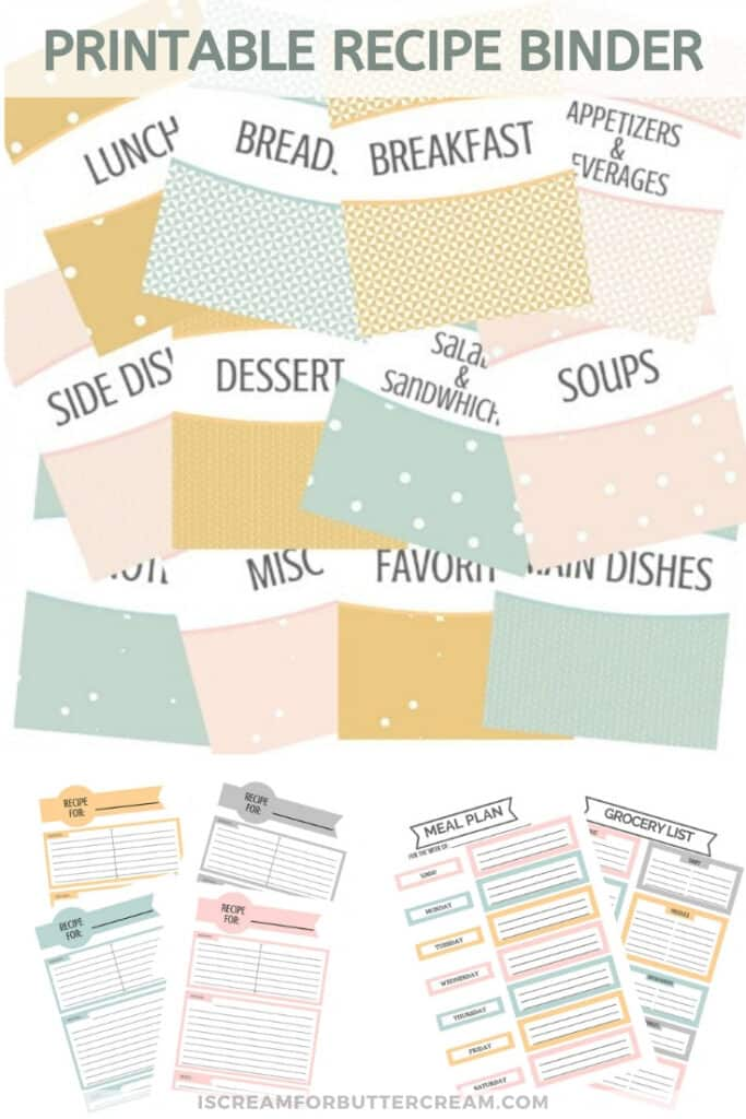 free recipe binder pin garphic 3