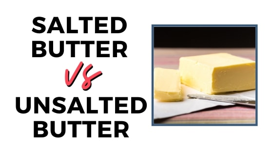 salted vs unsalted butter graphic