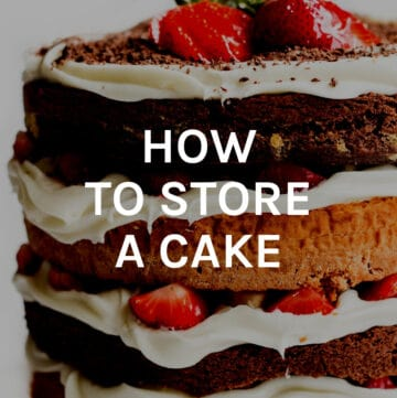 how to store a cake featured image