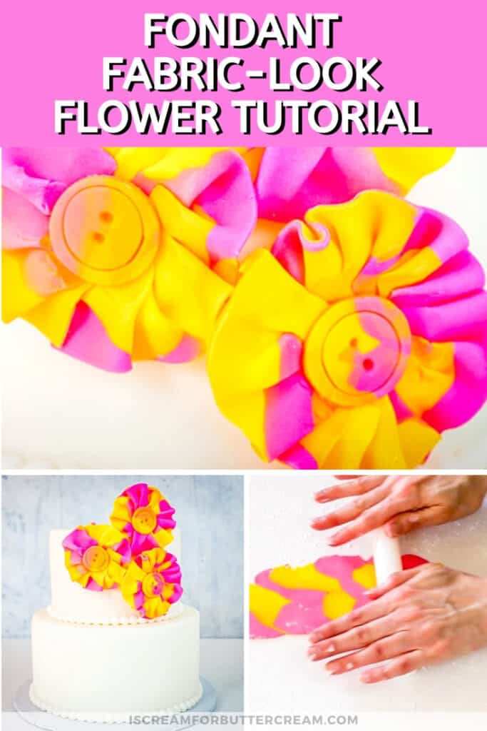 watercolor fondant ruffled flowers pin graphic