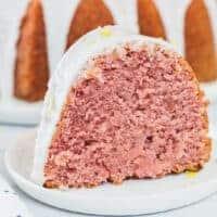 Strawberry Lemonade Bundt Cake social graphic