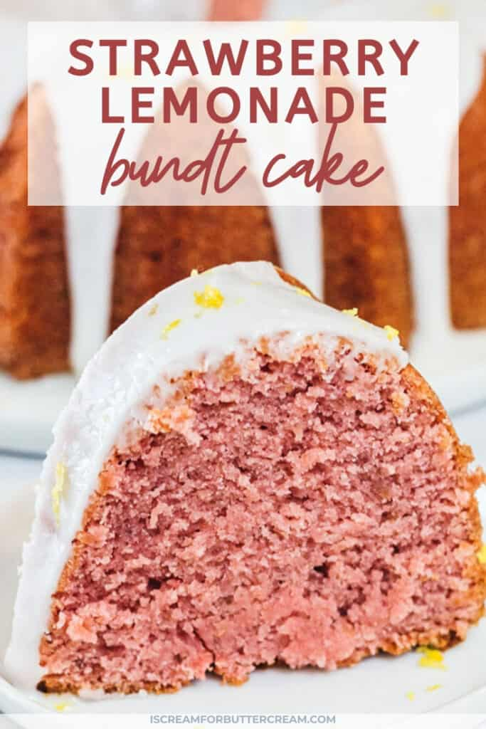 Strawberry Lemonade Bundt Cake Pin Graphic