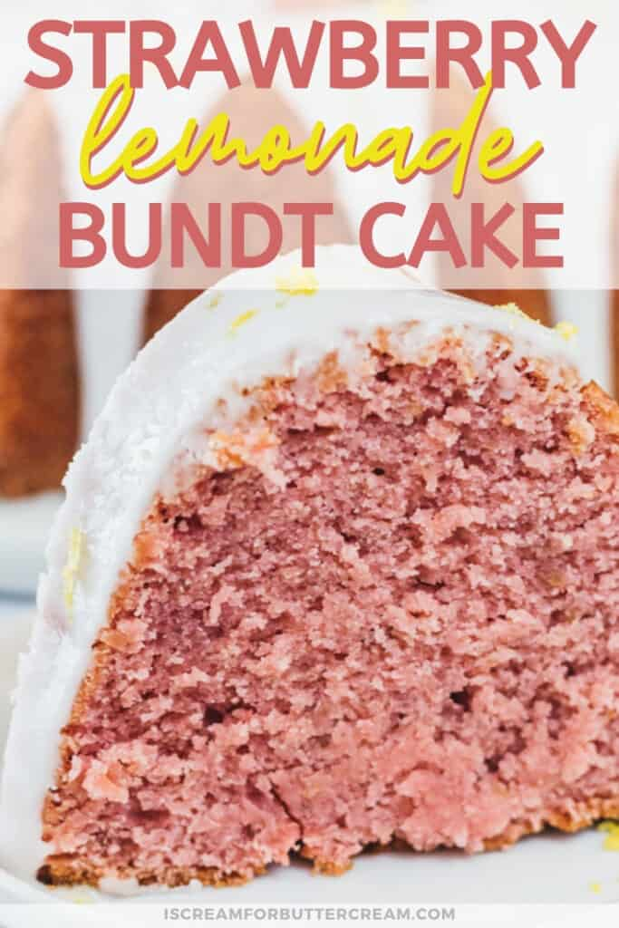 Strawberry Lemonade Bundt Cake Pin Image