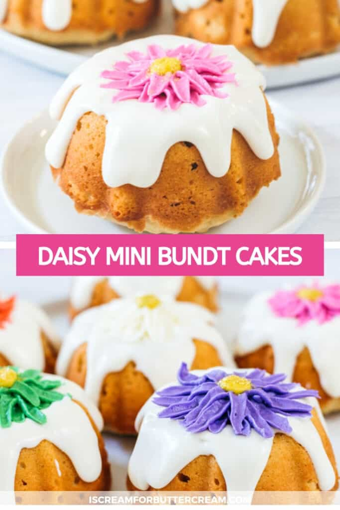 daisy mini cakes pin graphic
