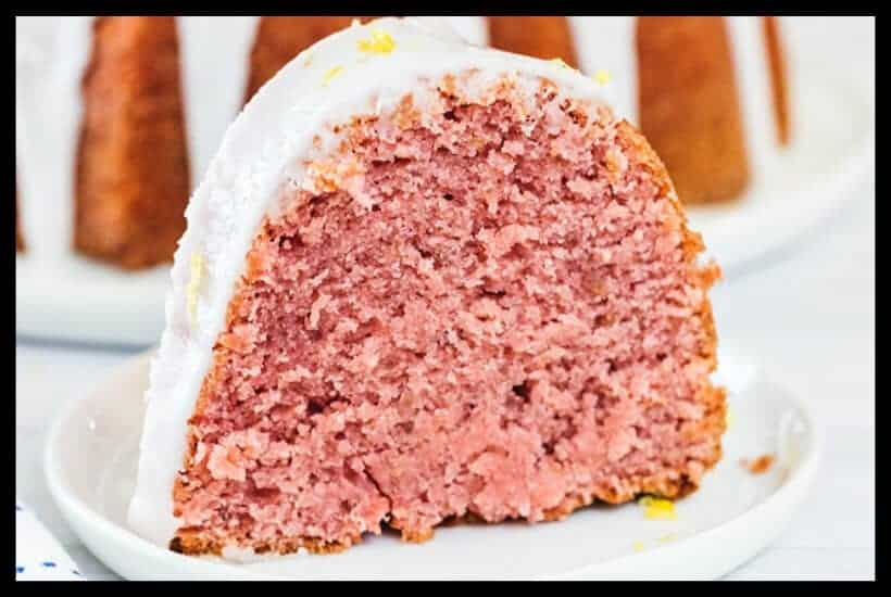 Strawberry Lemonade Bundt Cake Featured Image