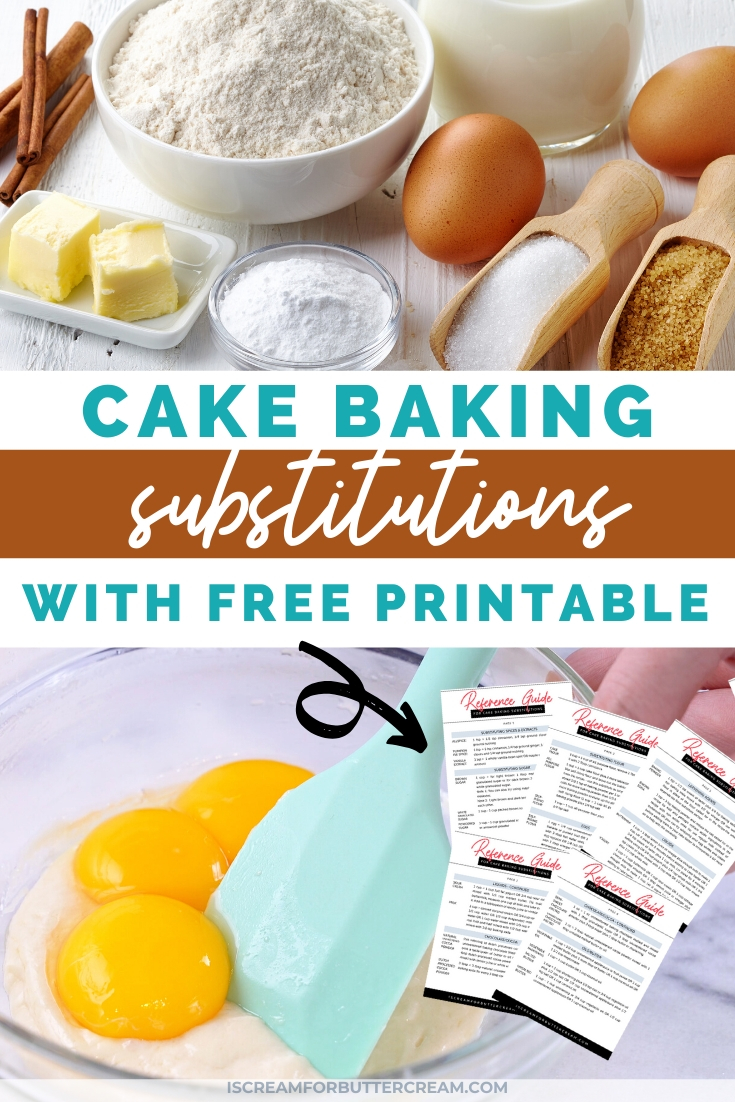 cake ingredient subs pin graphic