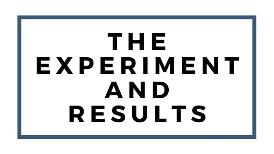 experiment and results graphic
