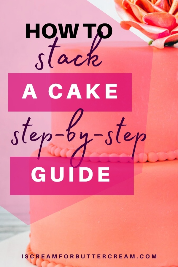 How to Stack a Cake pin graphic