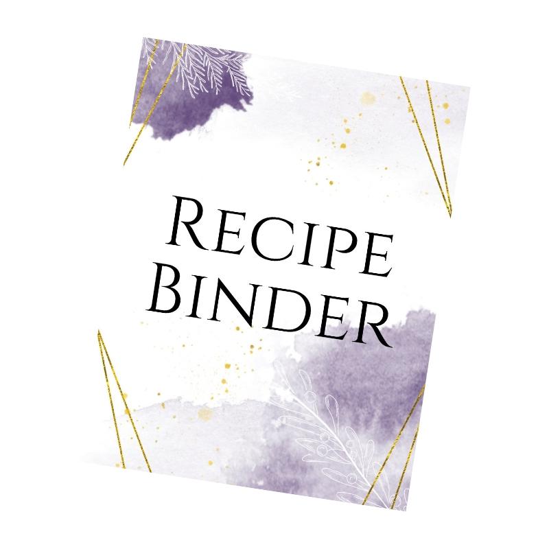 grafica copertina raccoglitore ricetta viola