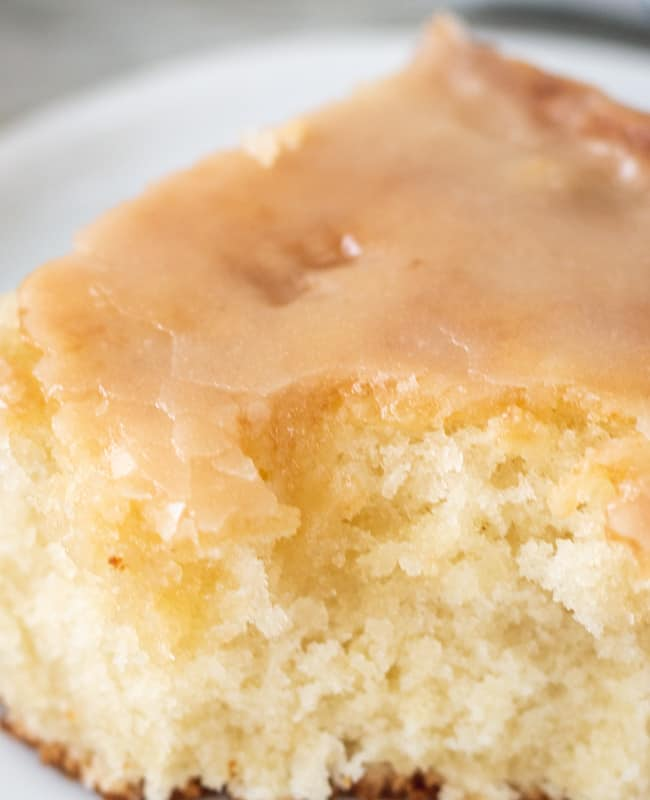 close up of moist cake