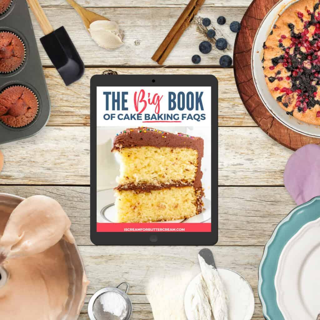 grafica del libro FAQ sulla cottura di torte