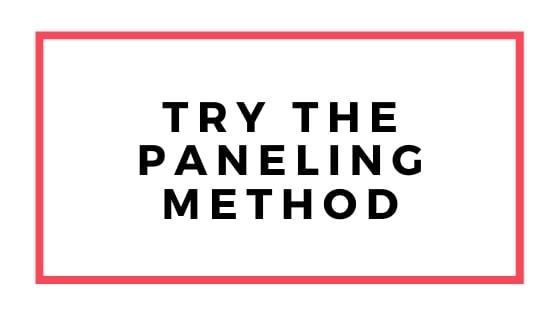try the paneling method graphic