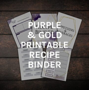 purple and gold recipe binder featured image
