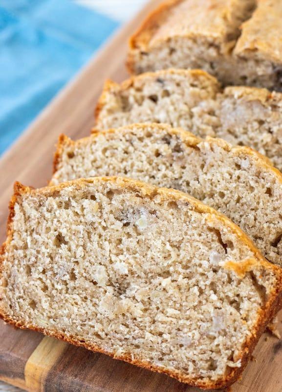 vista dall'alto in basso del pane