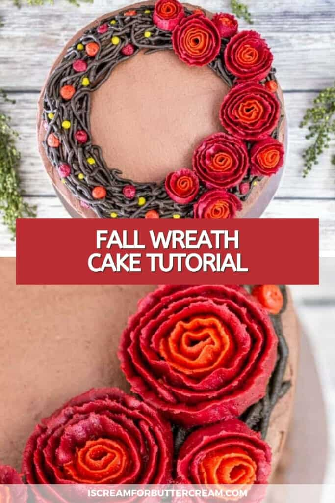 fall wreath cake pin graphic