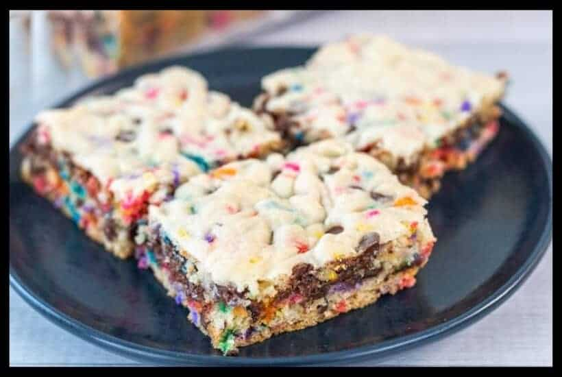 Funfetti Chocolate Chip Cake Mix Bars featured image