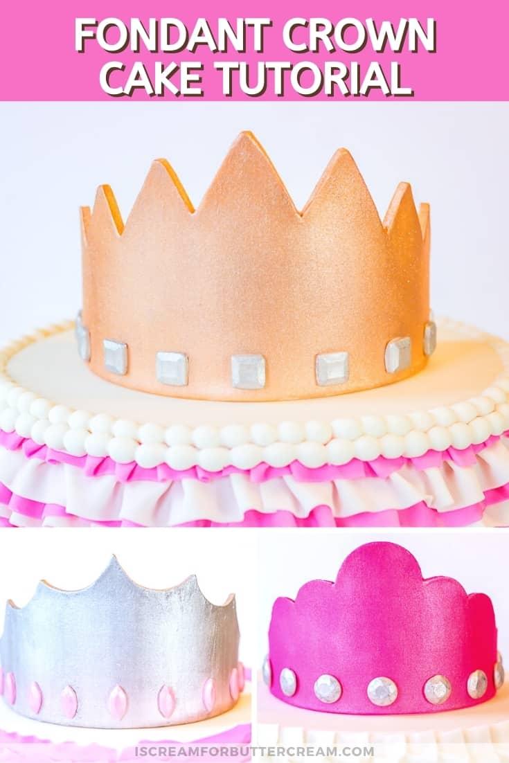 gumpaste crown pin graphic