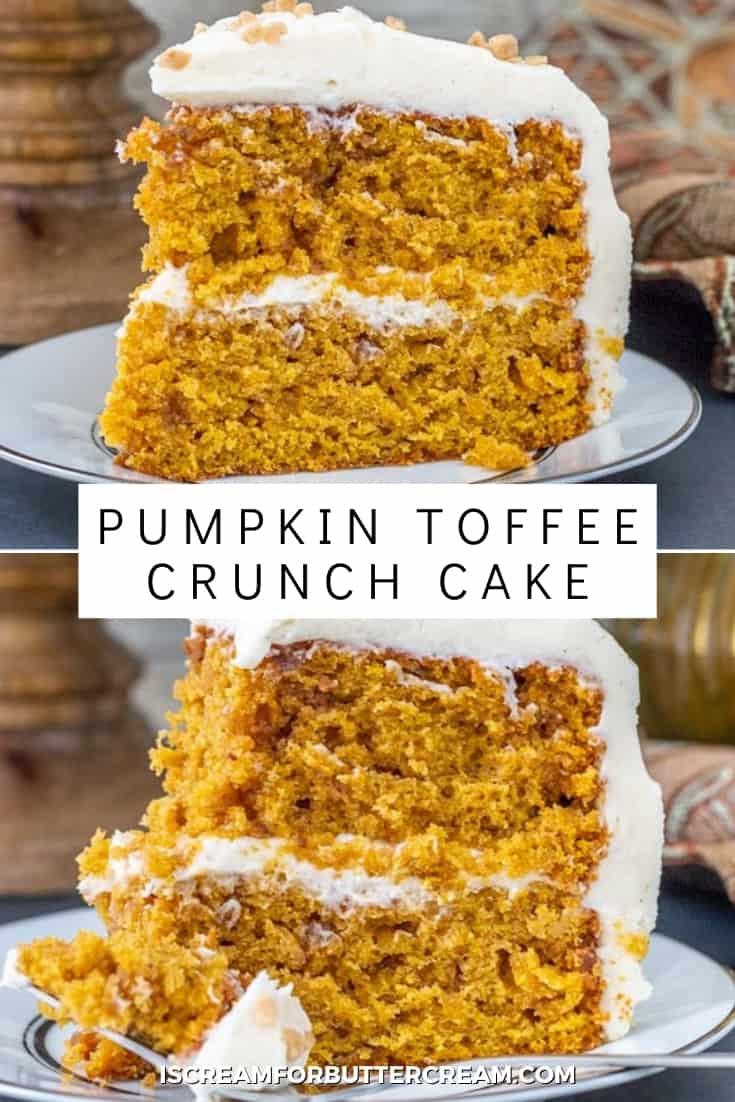 pumpkin toffee cake pin