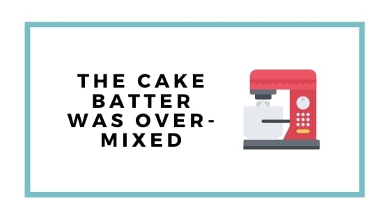 over mixing cake batter graphic with stand mixer pic