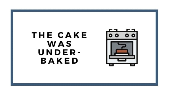 cake underbaked graphic with oven