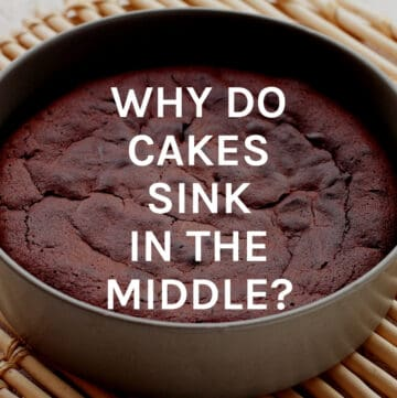 why do cakes sink featured image