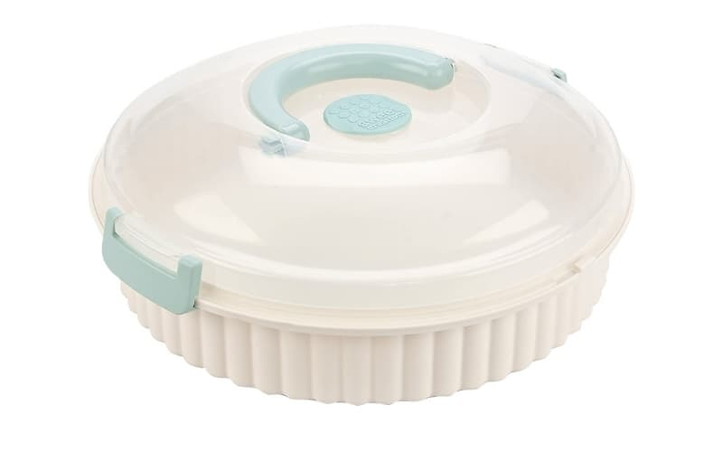 pie carrier with clamping lid