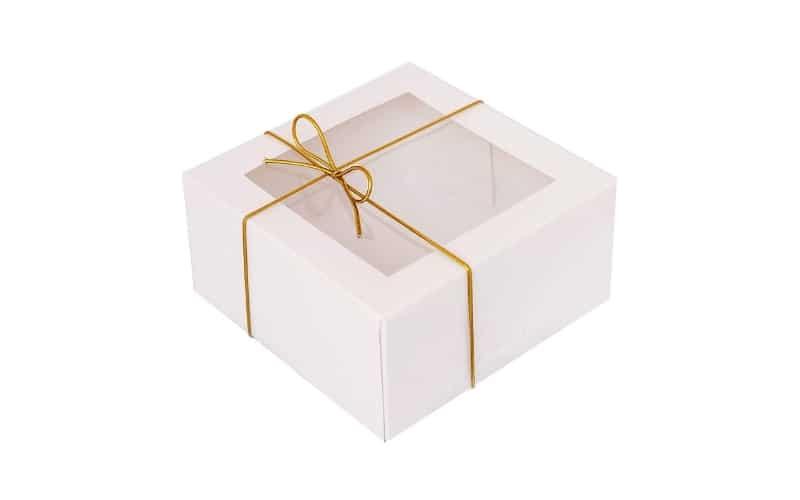 white window treat boxes