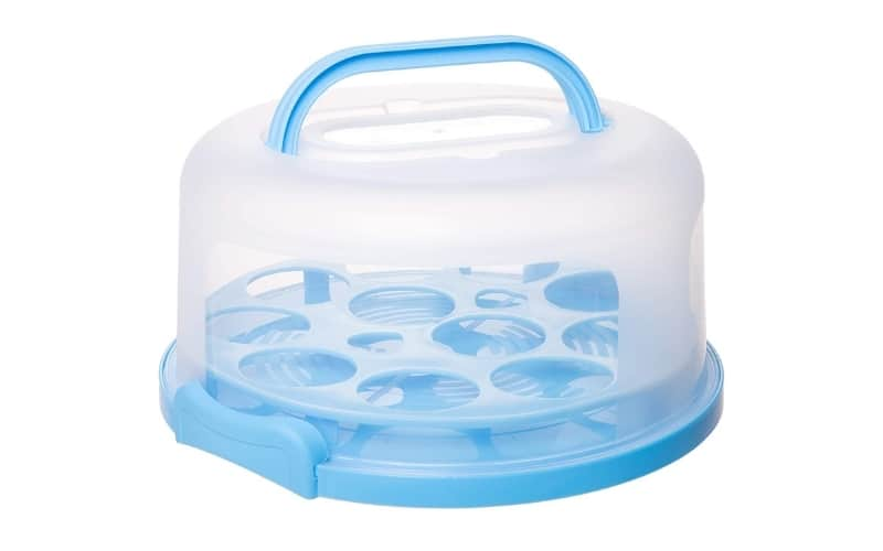 plastic cupcake and cake carrier