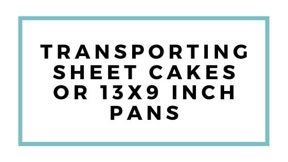 trasporto grafico di torte in fogli