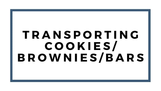 transporting cookies brownies and bars garphic